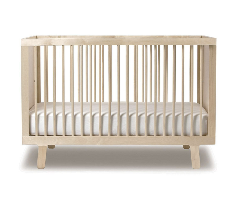 Oeuf NYC Natural Unfinished Sparrow Crib on DLK | designlifekids.com
