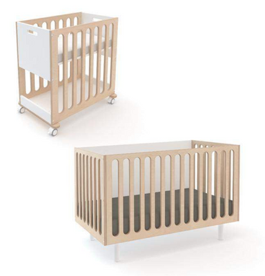 Oeuf NYC Fawn Crib and Bassinet System on DLK | designlifekids.com