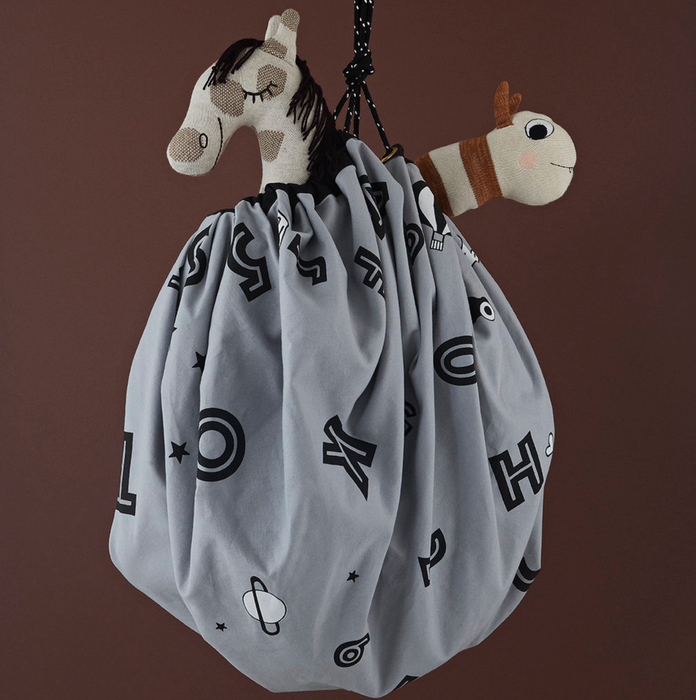 OYOY Living Alphabet Play Sack Toy Storage Bag on DLK | designlifekids.com