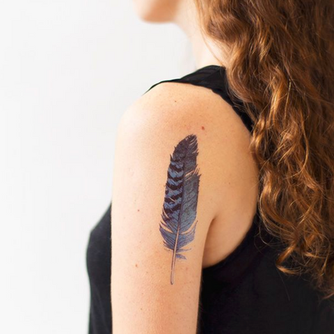 Tattly Temporary Feather Tattoos on DLK | designlifekids.com