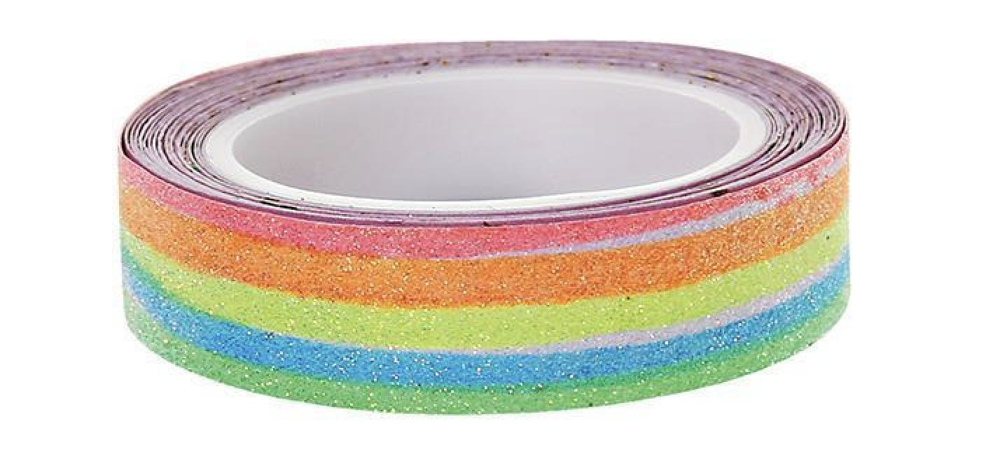 Meri Meri Rainbow Glitter Art Tape on DLK | designlifekids.com