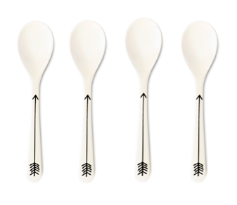 Young Lux Bamboo Scandinavian Print Spoons on Design Life Kids