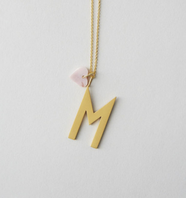 Design Letters Archetype Letter Necklace on DLK | designlifekids.com