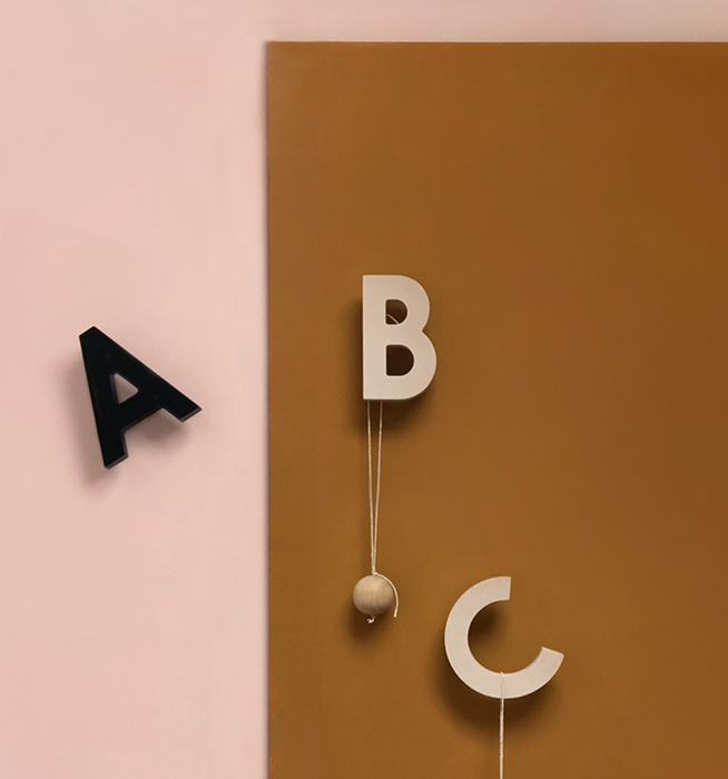 Rock & Pebble Alphabet Soup Wall Hooks at Design Life Kids