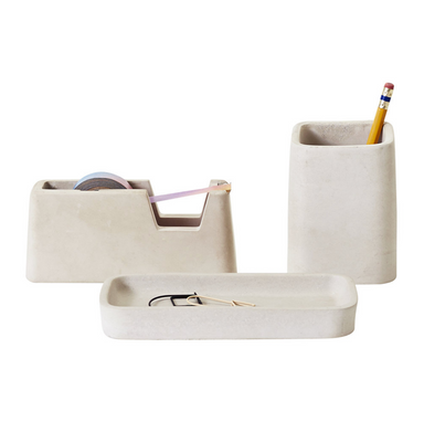 Areaware Concrete Desk Accessories on Design Life Kids