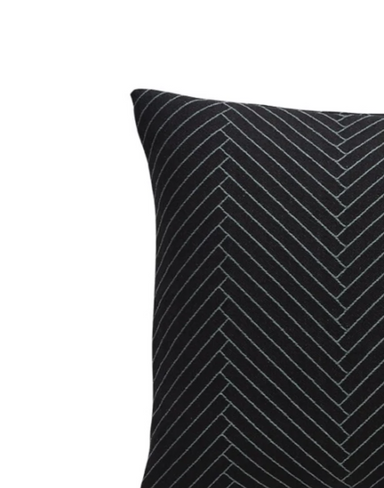 OYOY Herringbone Black Pillow on Design Life Kids