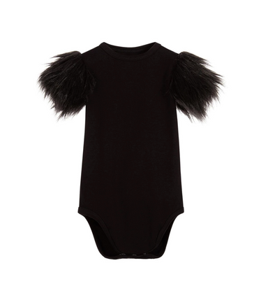 The Tiny Universe Faux Fur Onesie on Design Life Kids