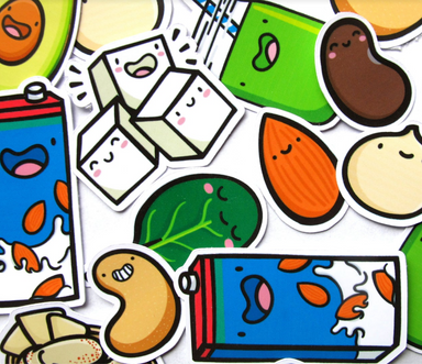 Emily McGaughey Vegan Stickers on Design Life Kids