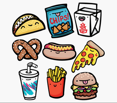 Emily McGaughey Junk Food Dude Stickers on Design Life Kids