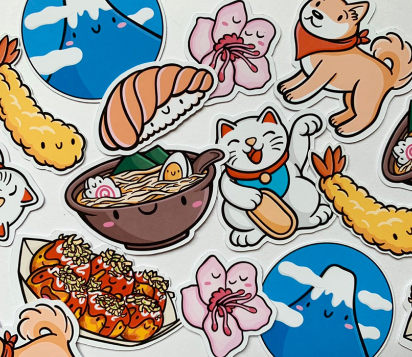 Emily McGaughey Japan Stickers on Design Life Kids