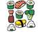 Emily McGaughey Sushi Stickers on Design Life Kids