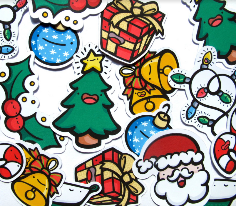 Emily McGaughey Christmas Stickers on Design Life Kids