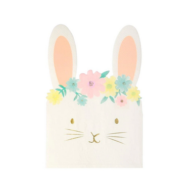 Meri Meri Floral Bunny Napkins on Design Life Kids
