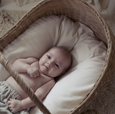Olli Ella Lyra Baby Bassinet Basket at Design Life Kids