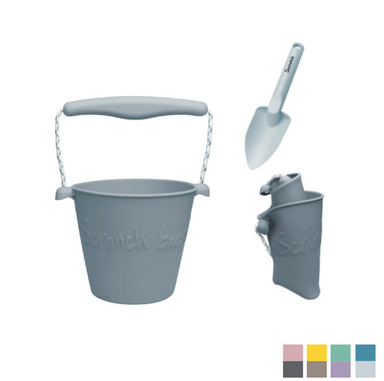 Scrunch Toys Silicone Bucket and Spade on Design Life Kids