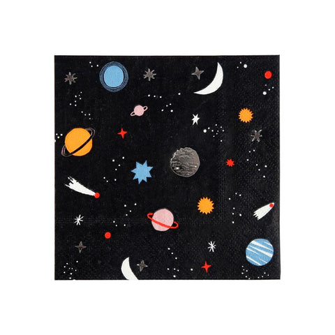 Meri Meri Space Napkins and Plates on DLK | designlifekids.com