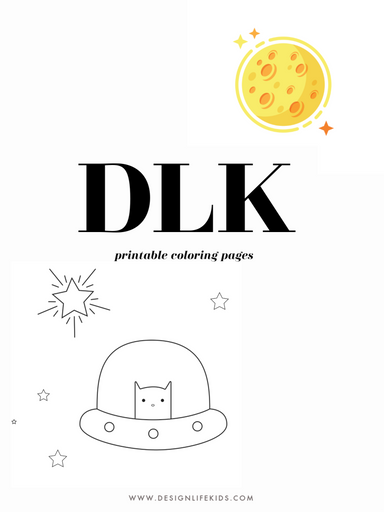 Space Day Coloring Book by Design Life Kids