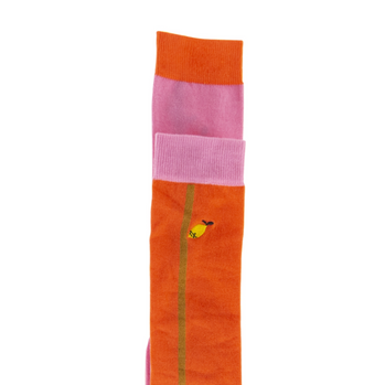 Sticky Lemon Color blocking Knee High Socks on Design Life Kids