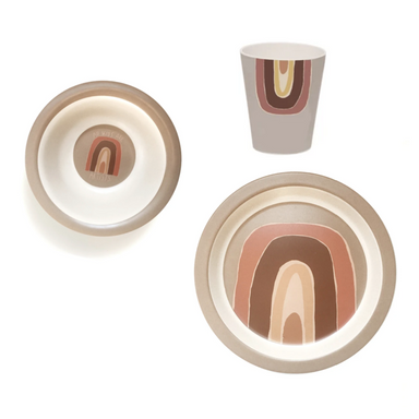 Studio Loco Rainbow Dishware Set on Design Life Kids