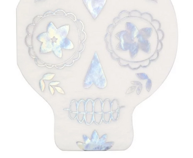 Meri Meri Holographic Sugar Skull Napkins on Design Life Kids