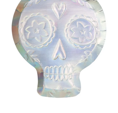 Holographic Sugar Skull Party Plates