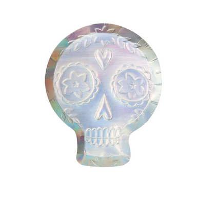 Meri Meri Holographic Sugar Skull Plates on Design Life Kids