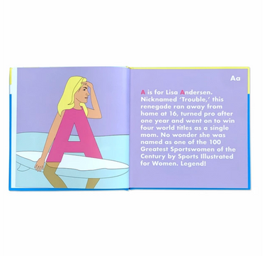 Surfing Legends Alphabet Book on Design Life Kids