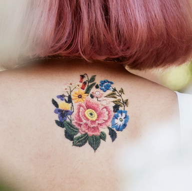 Tattly Embroidered Flower Tattoos on Design Life Kids