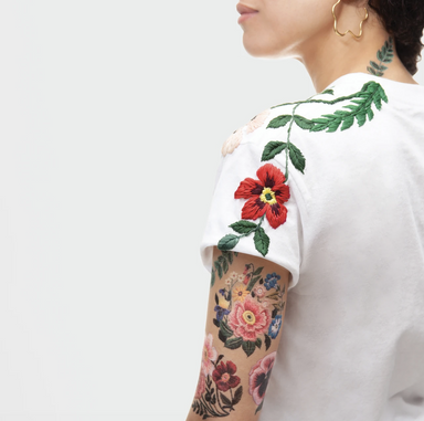Tattly Embroidered Flower Tattoo at Design Life Kids