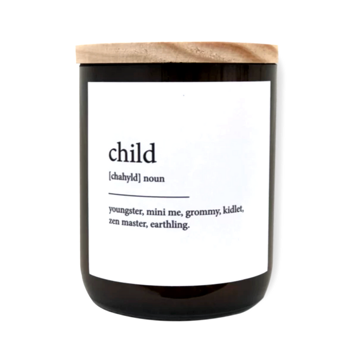 The Commonfolk Collective Dictionary Meaning Candle on Design Life Kids