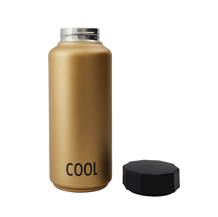 Design Letters Gold Thermo Bottle on Design Life Kids