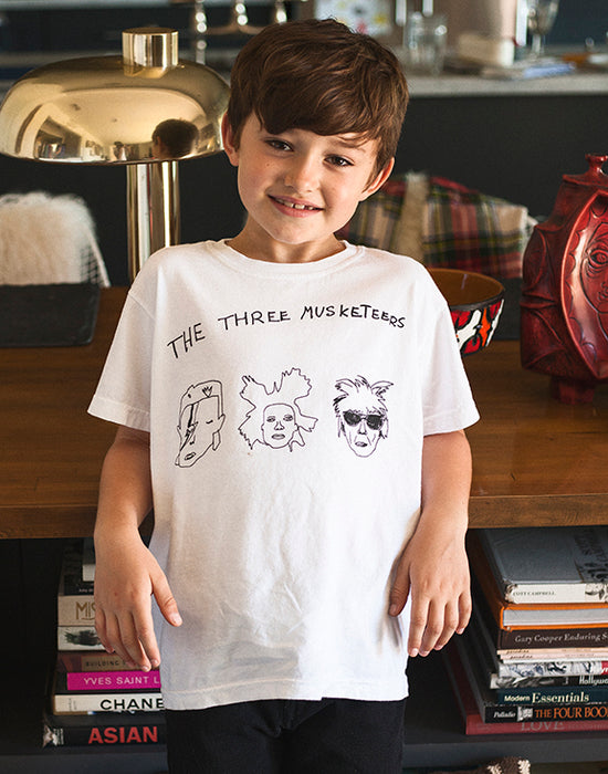 Anchors and Asteroids artist icon tee on Design Life Kids