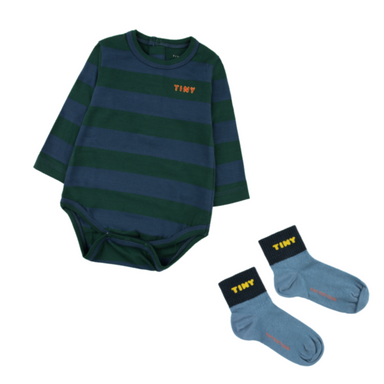 Tiny Cottons Striped Onesie on Design Life Kids