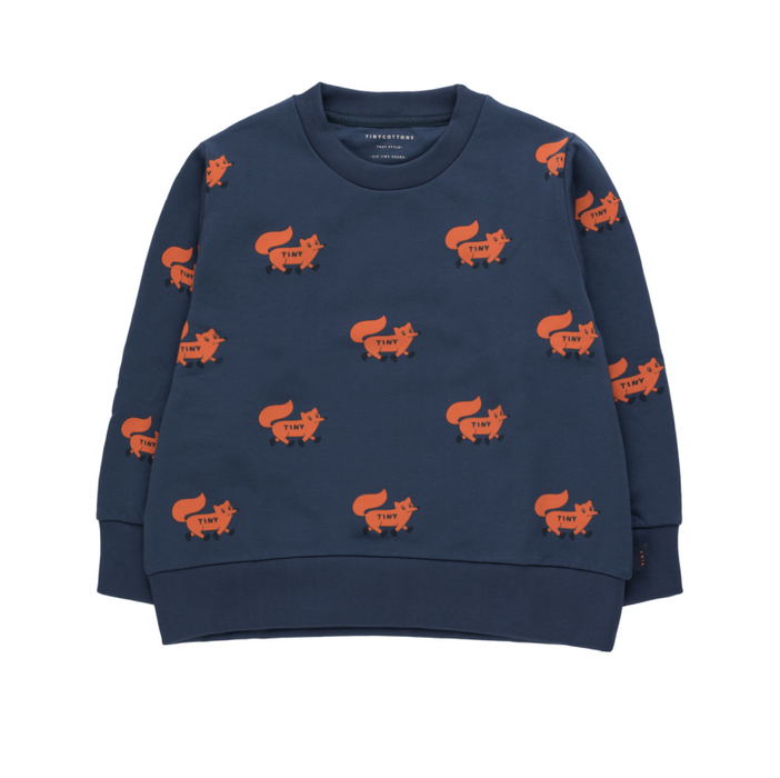 Tiny Cottons Foxes Sweatshirt on Design Life Kids