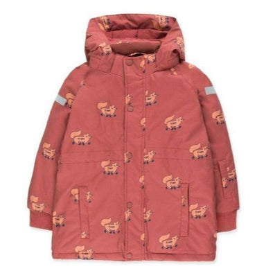 Tiny Cottons Foxes Snow Jacket on Design Life Kids