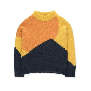 Tiny Cottons Fuji Color Block Sweater on Design Life Kids
