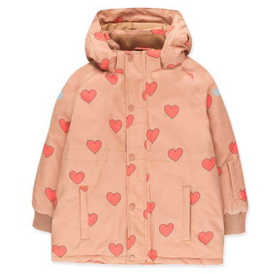 Tiny Cottons Hearts Snow Jacket on Design Life Kids