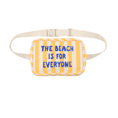 Tiny Cottons Manifesto The Beach Is For Everyone Fanny Pack on Design Life Kids