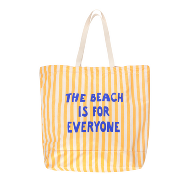 Tiny Cottons Manifesto The Beach Is For Everyone Tote Bag on Design Life Kids