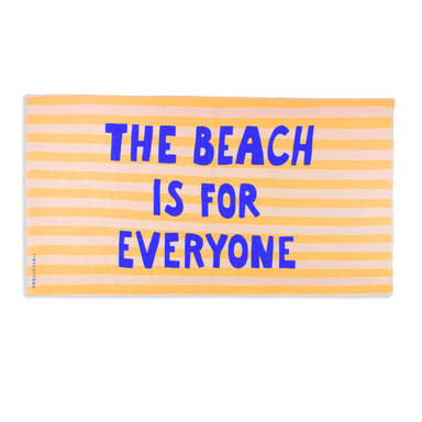 Tiny Cottons The Beach is For Everyone Beach Towel on Design Life Kids