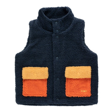 Tiny Cottons Tiny Sherpa Color Blocked Vest on Design Life Kids