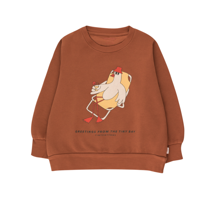 Tiny Cotton Bird Sweatshirt on Design Life Kids