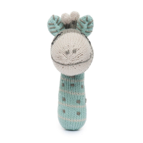 Finn + Emma Giraffe Mini Rattle on DLK | designlifekids.com