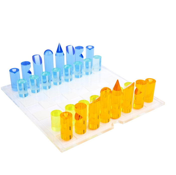 Sunnylife Lucite Chess Set at Design Life Kids