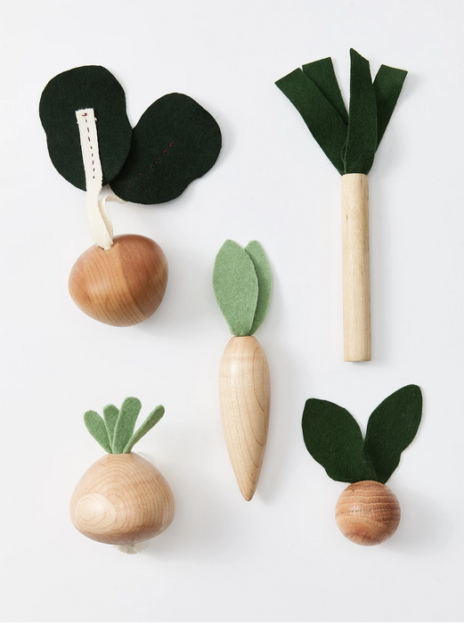 Milton and Goose Veggies Wooden Play Food Set on Design Life Kids