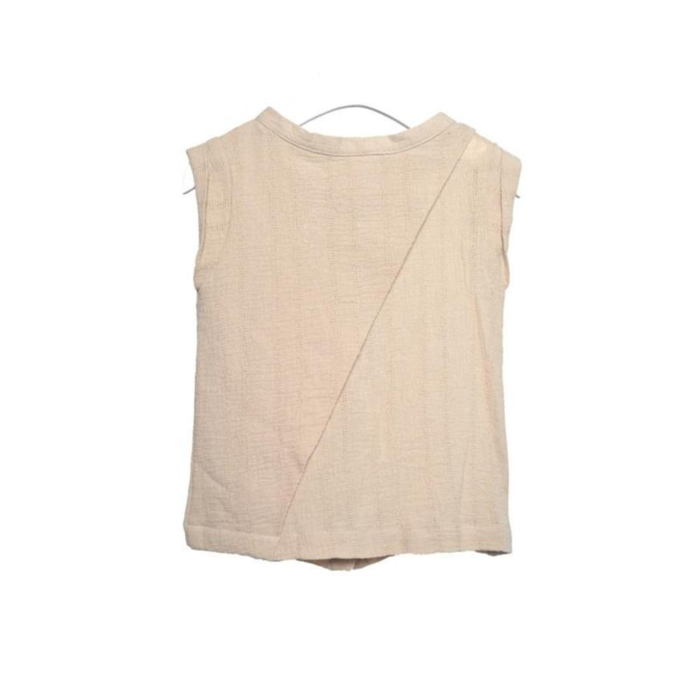 Telegraph Ave Linen Vented Vest on DLK