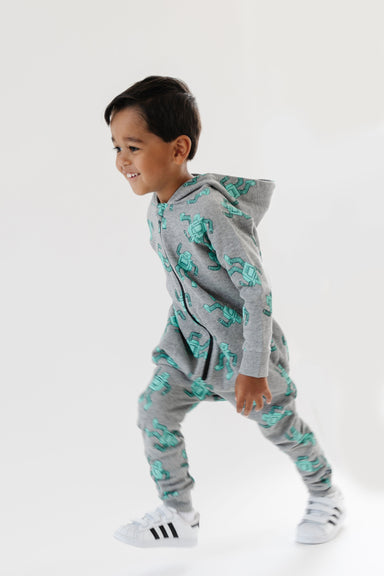 Whistle and Flute Robot Romper on Design Life Kids