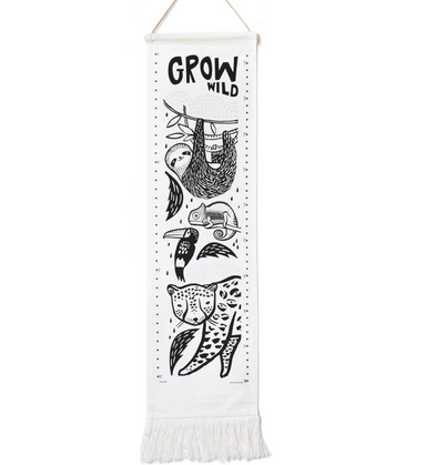 Wee Gallery Rainforest Growth Chart on Design Life Kids