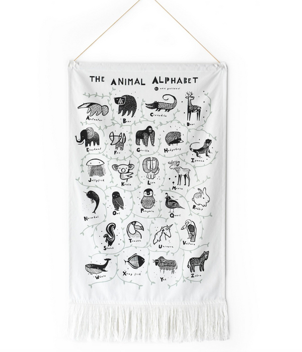 Wee Gallery Animal Alphabet Wall Hanging on Design Life Kids