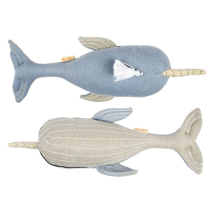 Meri Meri Milo the Narwhal Knit Toy Doll on DLK | designlifekids.com